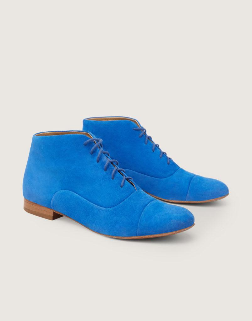 Blue Suede Lindy Hop boots