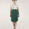 emerald wrap pencil skirt