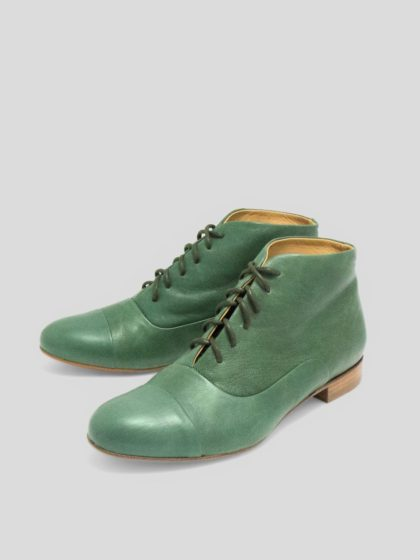 Green Lindy hop boots